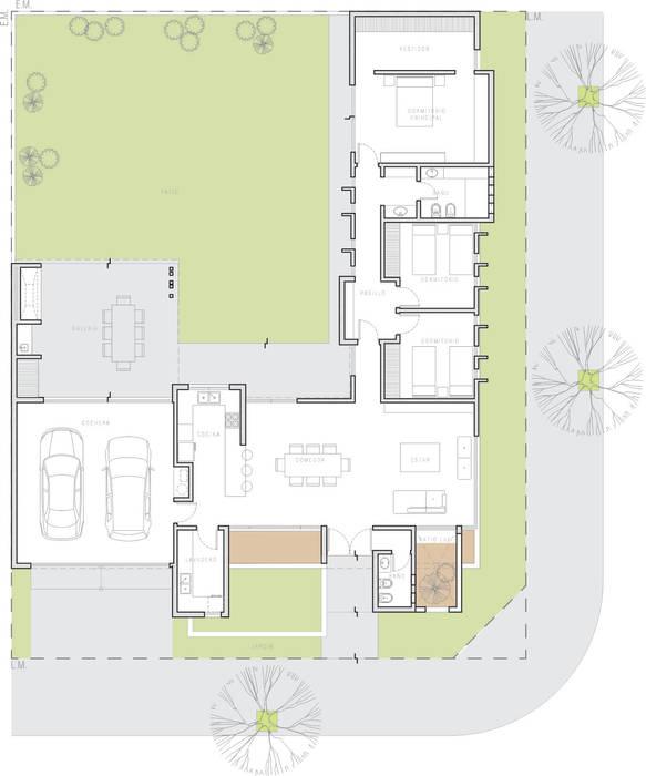 : Casas de estilo  por ARBOL Arquitectos ,