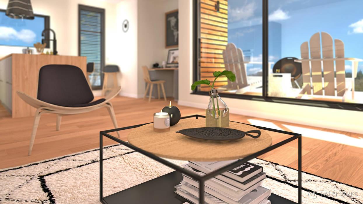 Focus sur la table basse: Salon de style de style Moderne par MJ Intérieurs