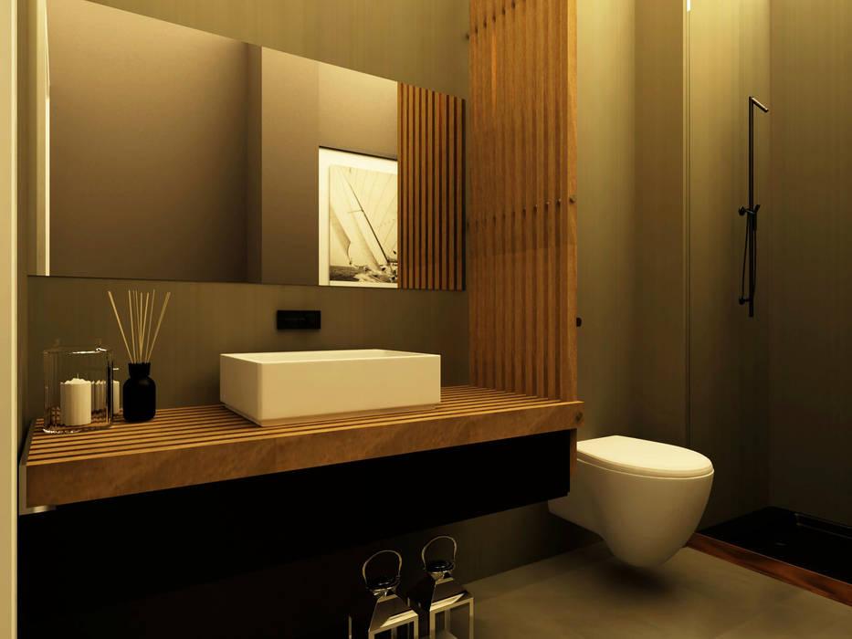Apartamento no Lumiar: Casas de banho  por Rita Glória interior design
