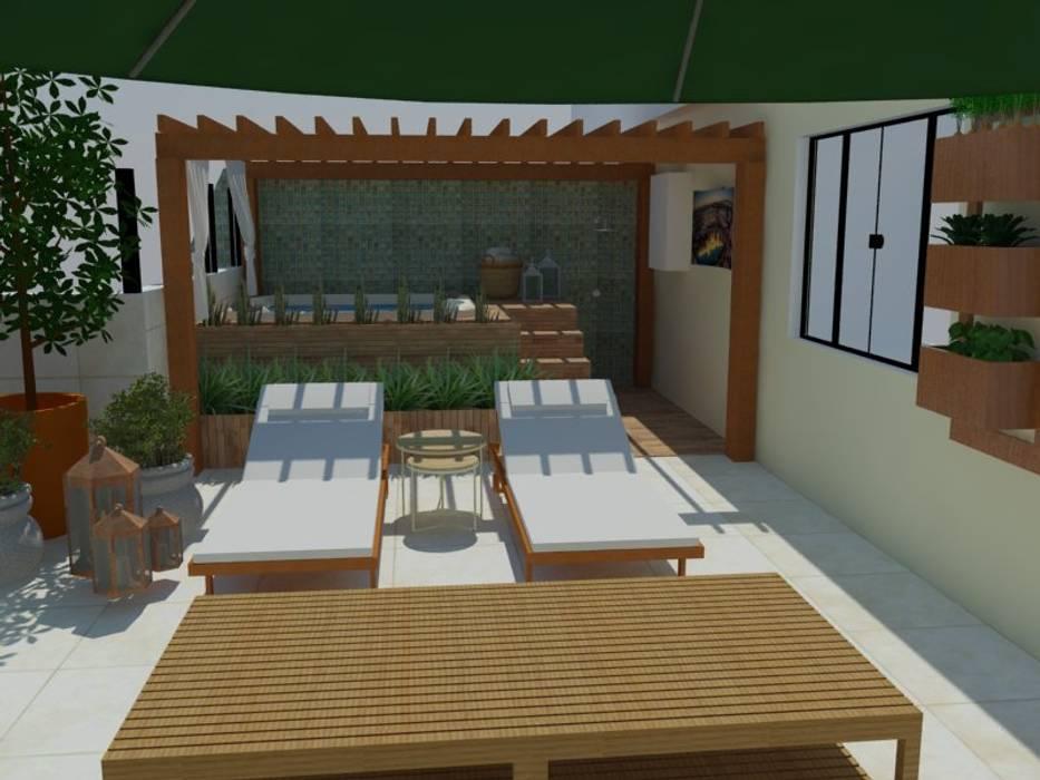 Roof terrace by Garnet Design de Interiores,