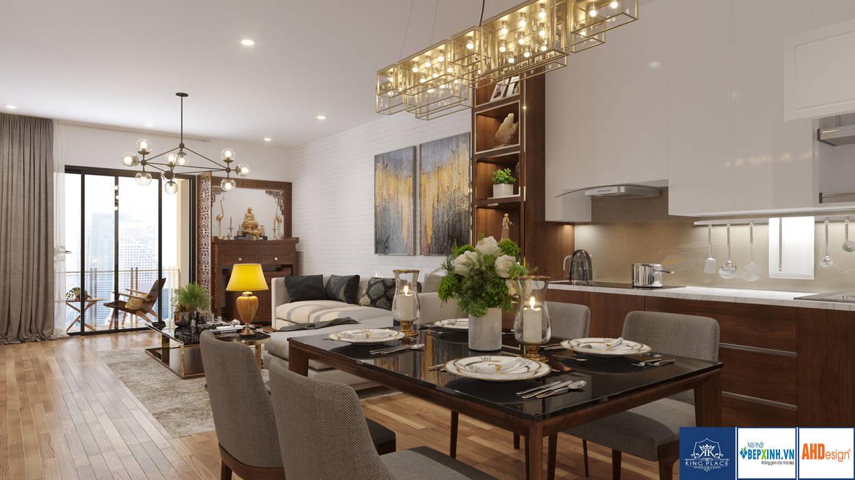 Thiết Kế Phòng Khách-Bếp:  Dining room by Công ty TNHH thiết kế nội thất KingPlace,