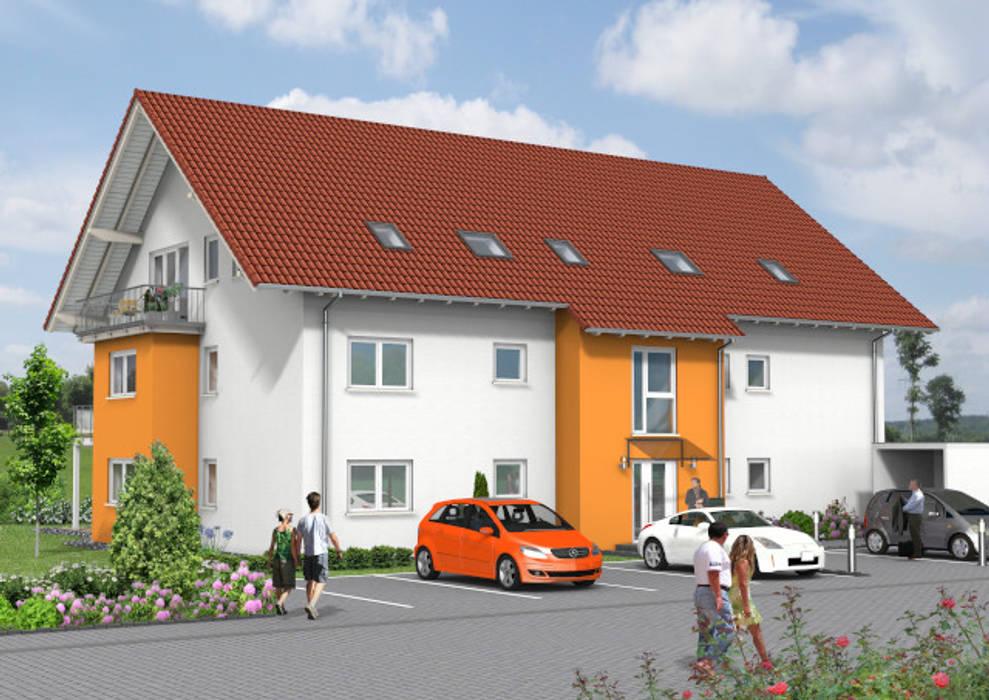 Mehrfamilienhäuser planen wir Ihnen gerne individuell nach Ihren Vorstellungen:  Mehrfamilienhaus von SI-Massivhaus