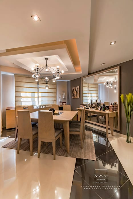 dinning room by raydesigns:  غرفة السفرة تنفيذ RayDesigns,
