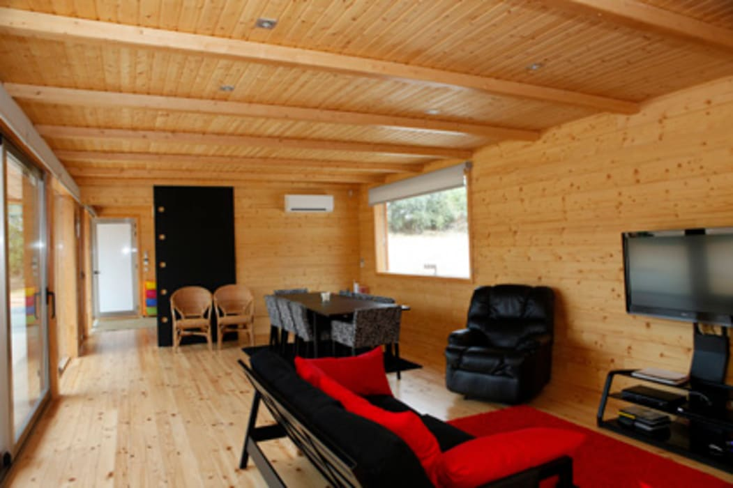 RUSTICASA Ruang Keluarga Modern Kayu Wood effect