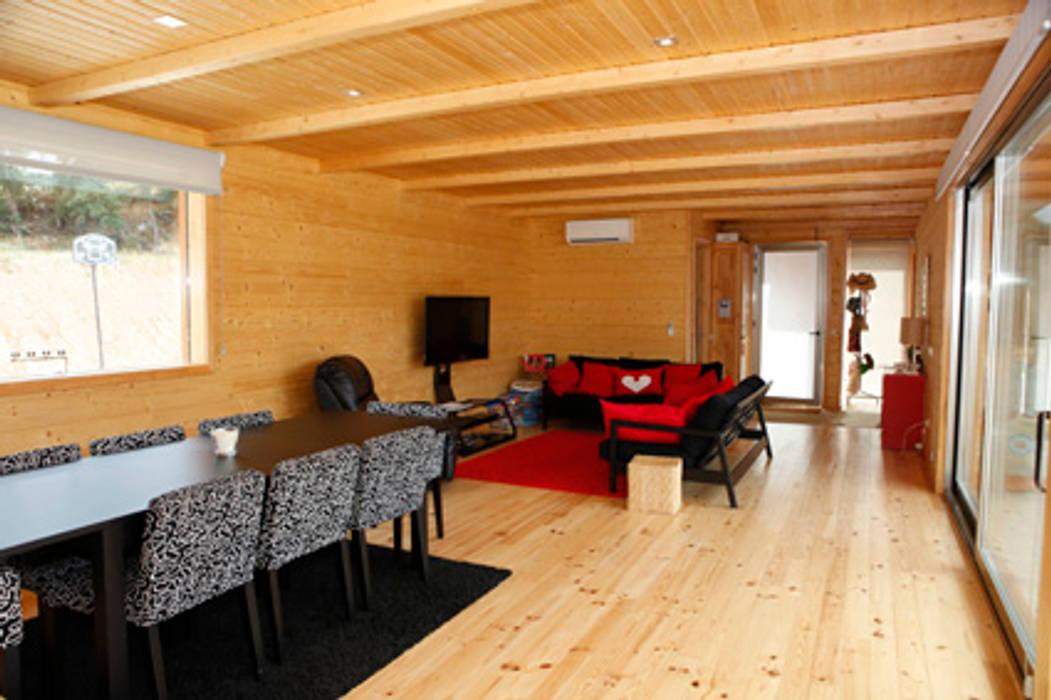 RUSTICASA Ruang Makan Modern Kayu Wood effect