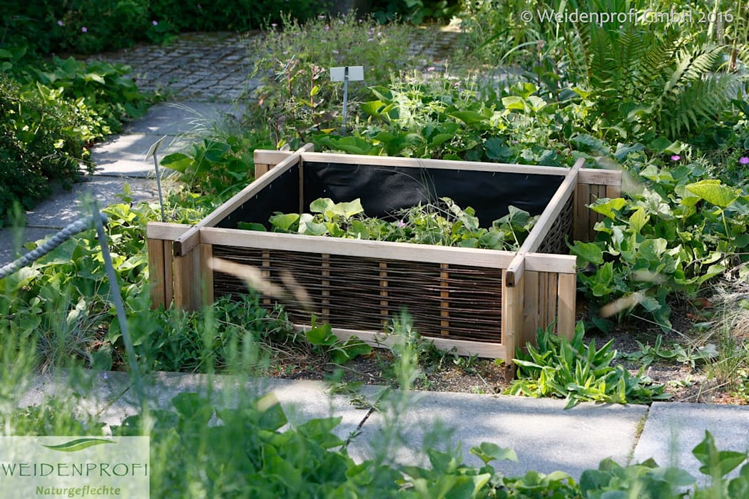 Kräuterbeet Aus Weide Und Kiefernholz Garten Von Naturgeflechte24