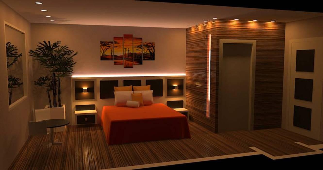 Camera da letto con bagno: camera da letto in stile di idea design ...