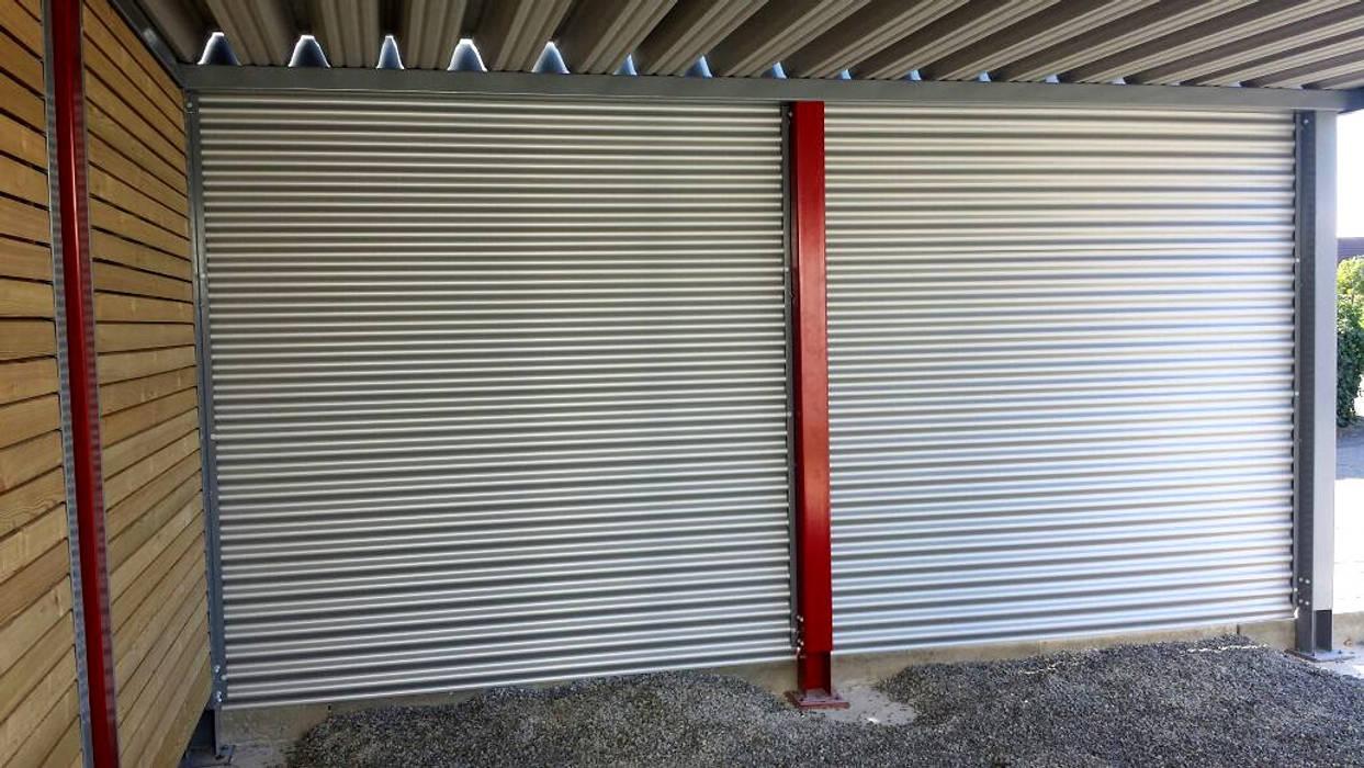 Stahlcarport Wandverkleidung Carport-Schmiede GmbH & Co. KG - Hersteller für Metallcarports und Stahlcarports auf Maß Carport Eisen/Stahl Grau