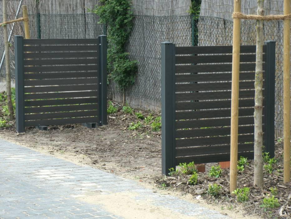 Sichtschutzzaun Aus Stahl Mit Wpc Gartenhaus Von Carport Schmiede
