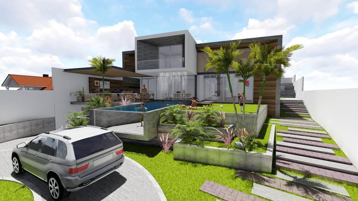 Minimalistische Häuser von BIM STUDIO ARQUITECTOS SAC Minimalistisch