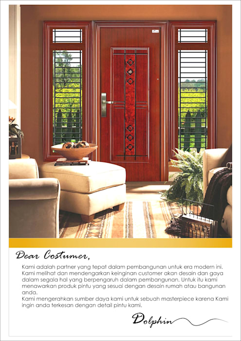 pintu gendong baja platinum PT. Golden Prima Sentosa Pintu Besi/Baja Brown