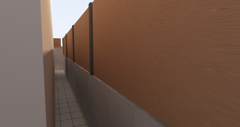 กั้นผนังเพิ่มเติมความสูงจากงานรั้วเดิม สวยงาม คงทน ใช้สอยได้จริง:  บ้านและที่อยู่อาศัย by ออกแบบ เขียนแบบ ก่อสร้าง