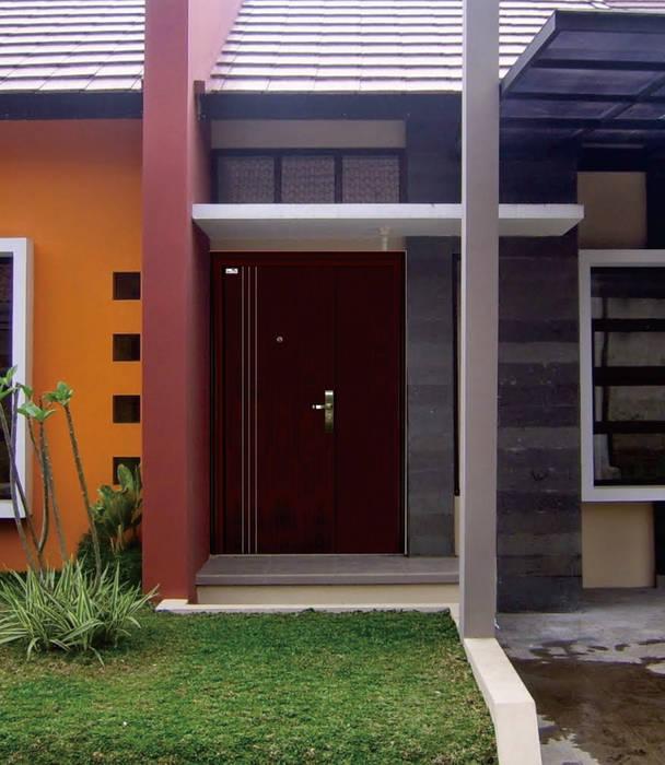 pintu baja platinum maother & son PT. Golden Prima Sentosa Pintu Besi/Baja Brown
