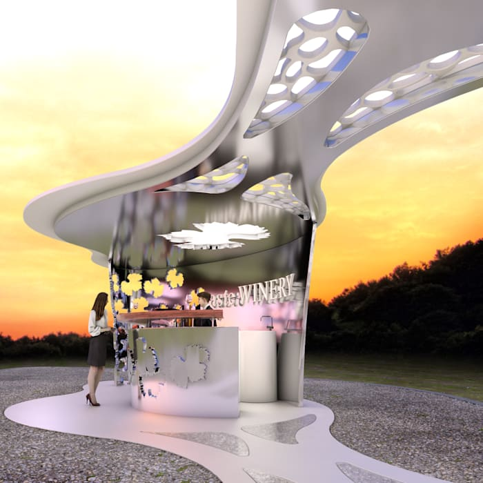 Bodega Haven - Kiosk Bar:  Gastronomie von Peter Stasek Architects - Corporate Architecture