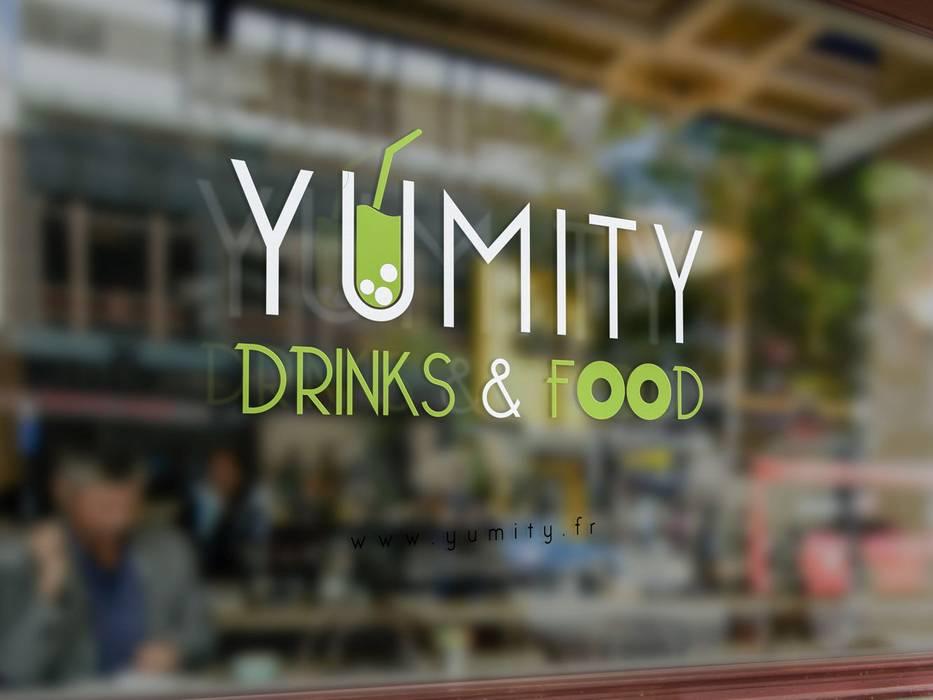 Bar Restaurant Yumity: Restaurants de style  par Jeremy Collin Ebeniste - créateur