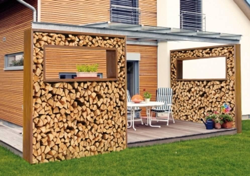 sichtschutz corteenstahl brennholz: garten von weber gärten | homify