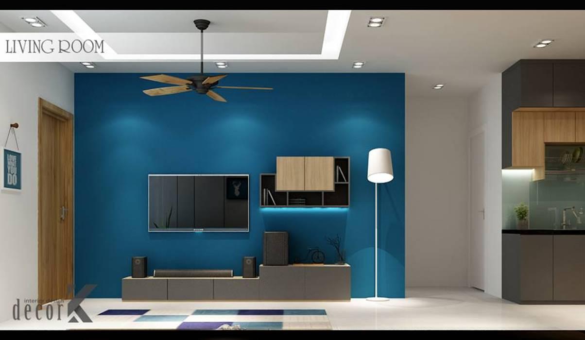 Living Room:  Phòng khách by Công ty TNHH TMDV Decor KT, Châu Á