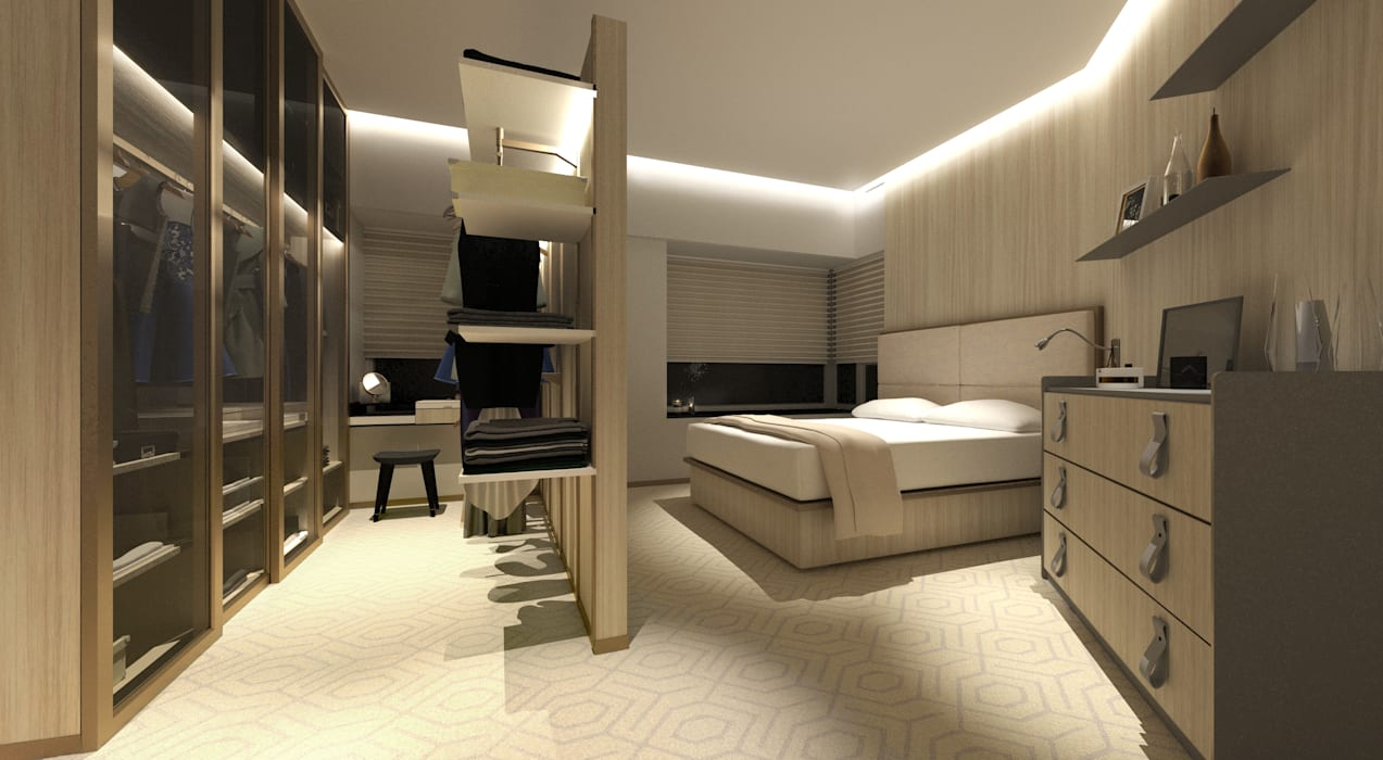 Sorrento Tower:  Bedroom by Artta Concept Studio, Modern