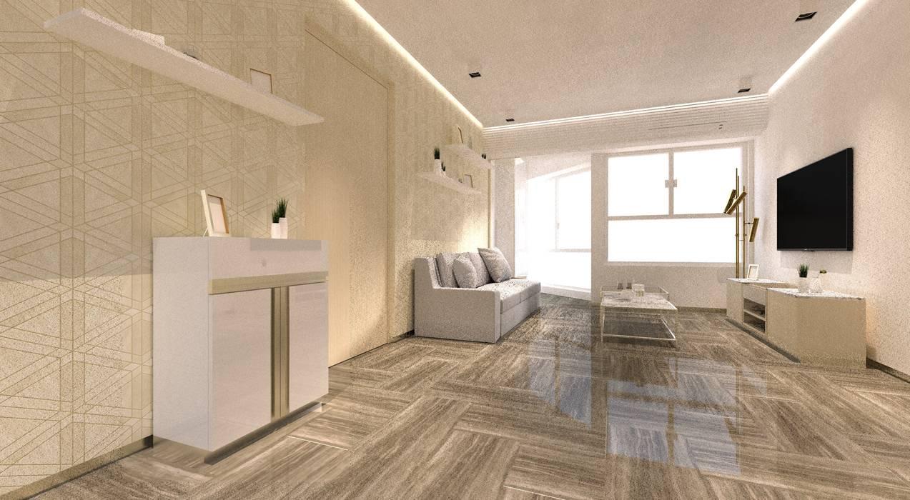 Regal Court :  Living room by Artta Concept Studio
