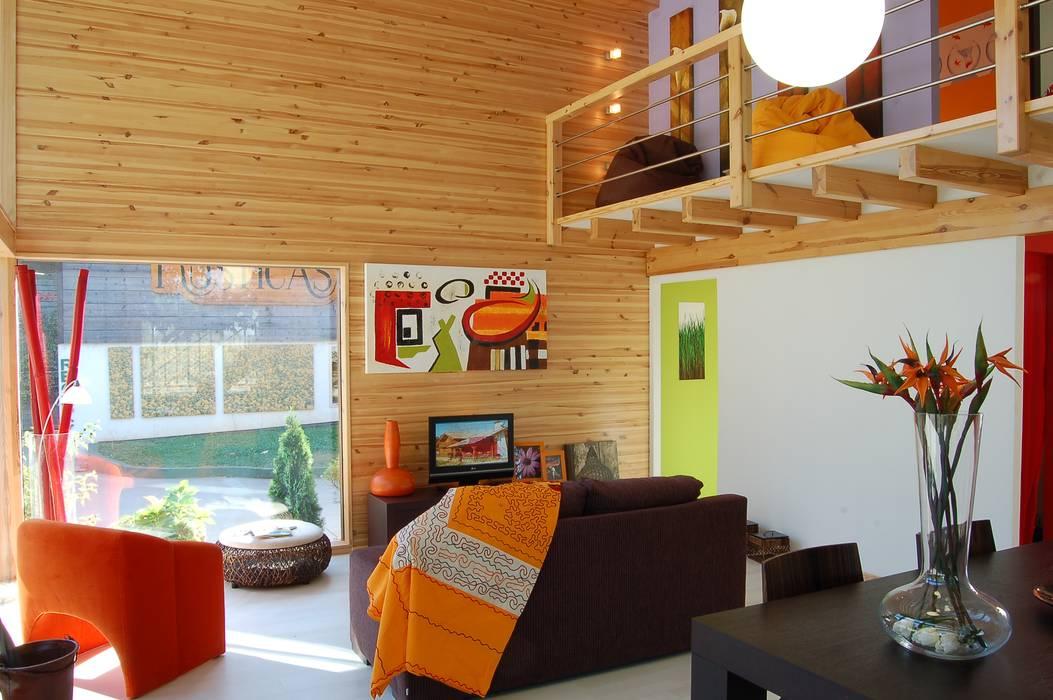 Modern Living Room by Rusticasa Modern Wood Wood effect