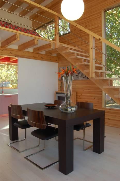 Modern Dining Room by Rusticasa Modern Wood Wood effect