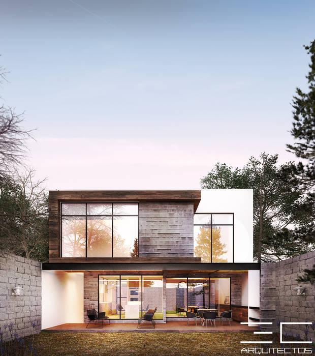 Дома в . Автор – 3C Arquitectos S.A. de C.V., Модерн