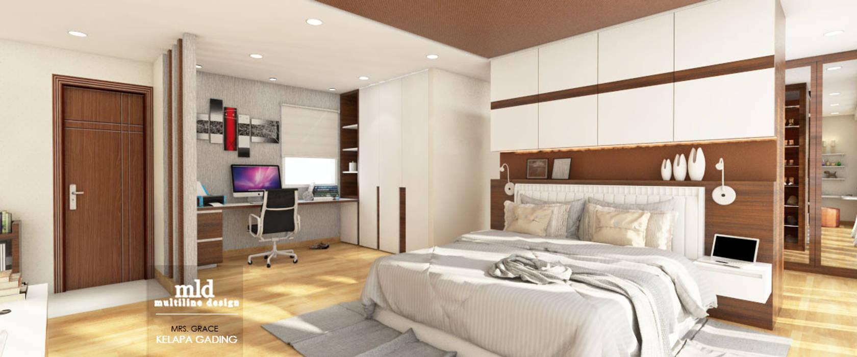 Master Bedroom Design Kelapa Gading - Mediterania Kamar Tidur Modern Oleh Multiline Design Modern