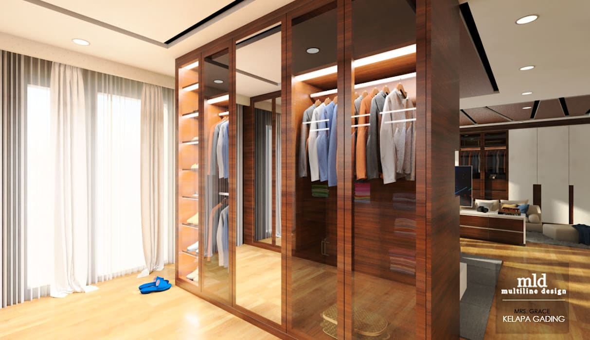 Master Bedroom Design Kelapa Gading - Mediterania Ruang Ganti Modern Oleh Multiline Design Modern