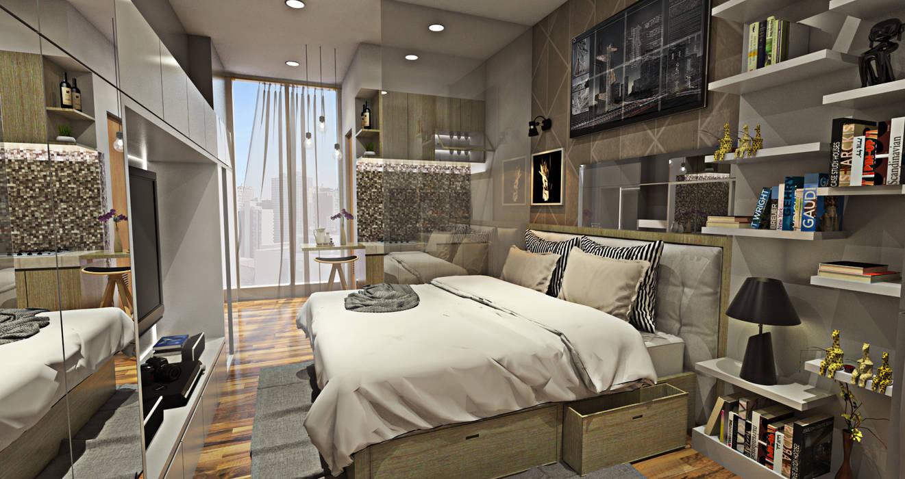 Minimalist bedroom by Multiline Design Minimalist