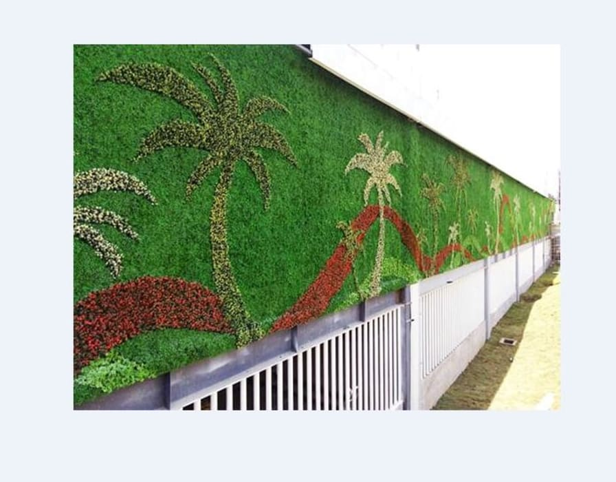 Artificial Plants Wall For Exterior Wall Landscapes and Decor Country style stadiums by Sunwing Industrial Co., Ltd. Country Plastic