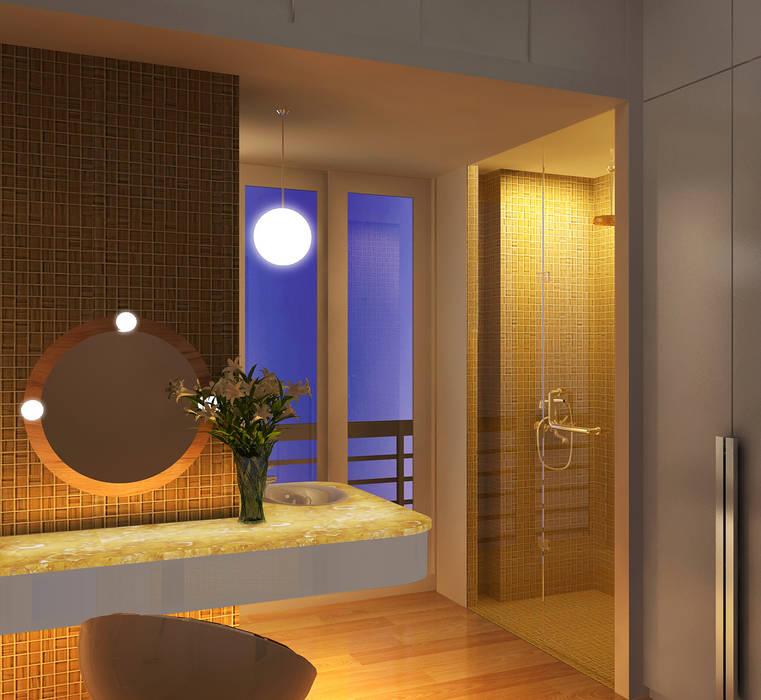 Rest room Lam Hung Nguyen Phòng tắm phong cách hiện đại Yellow