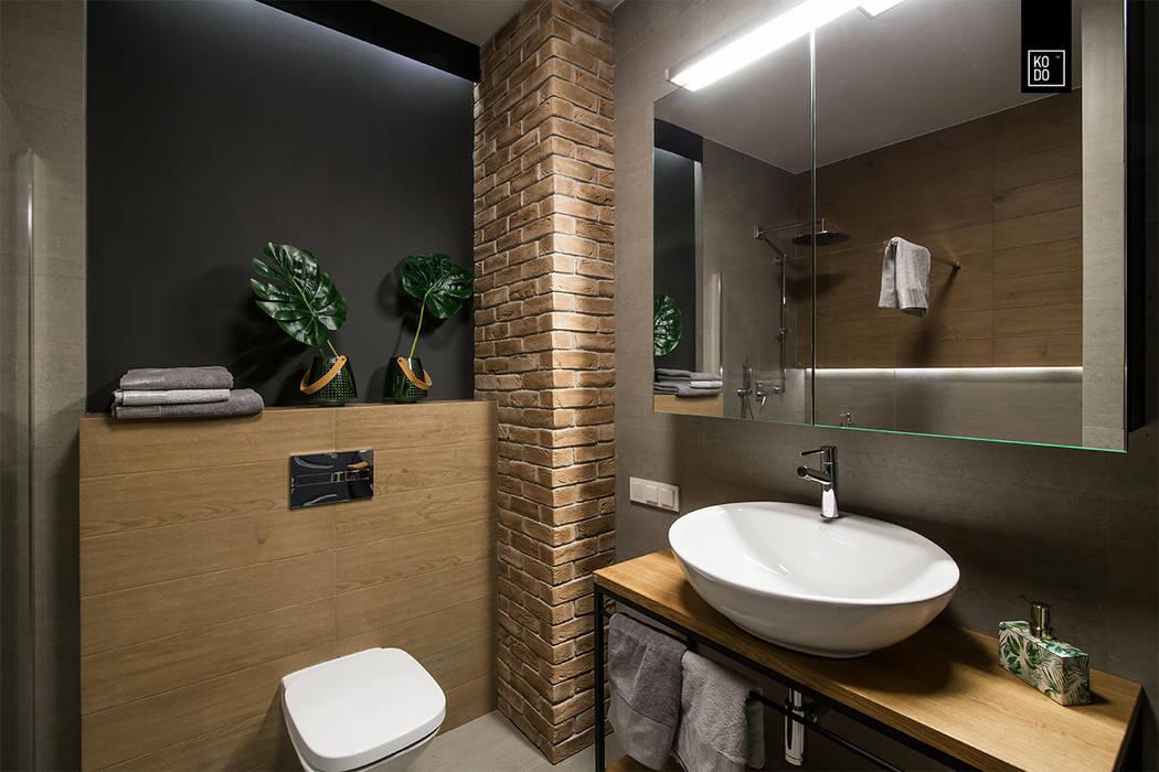 LIROWA Industrialna łazienka od KODO projekty i realizacje wnętrz Industrialny