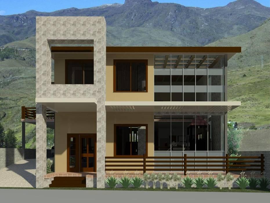 Fachada principal Diseño Store Casas modernas