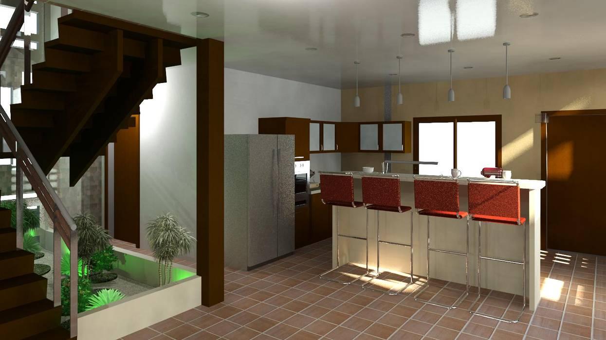 una vsita hacia la cocina Cocinas de estilo moderno de Diseño Store Moderno