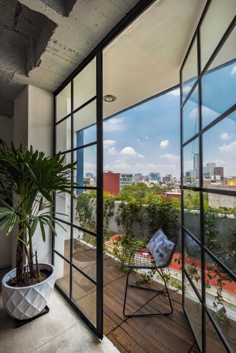 DEPARTAMENTO CAJA NEGRA: Jardines de estilo  por HDA: ARQUITECTURA BIOCLIMATICA