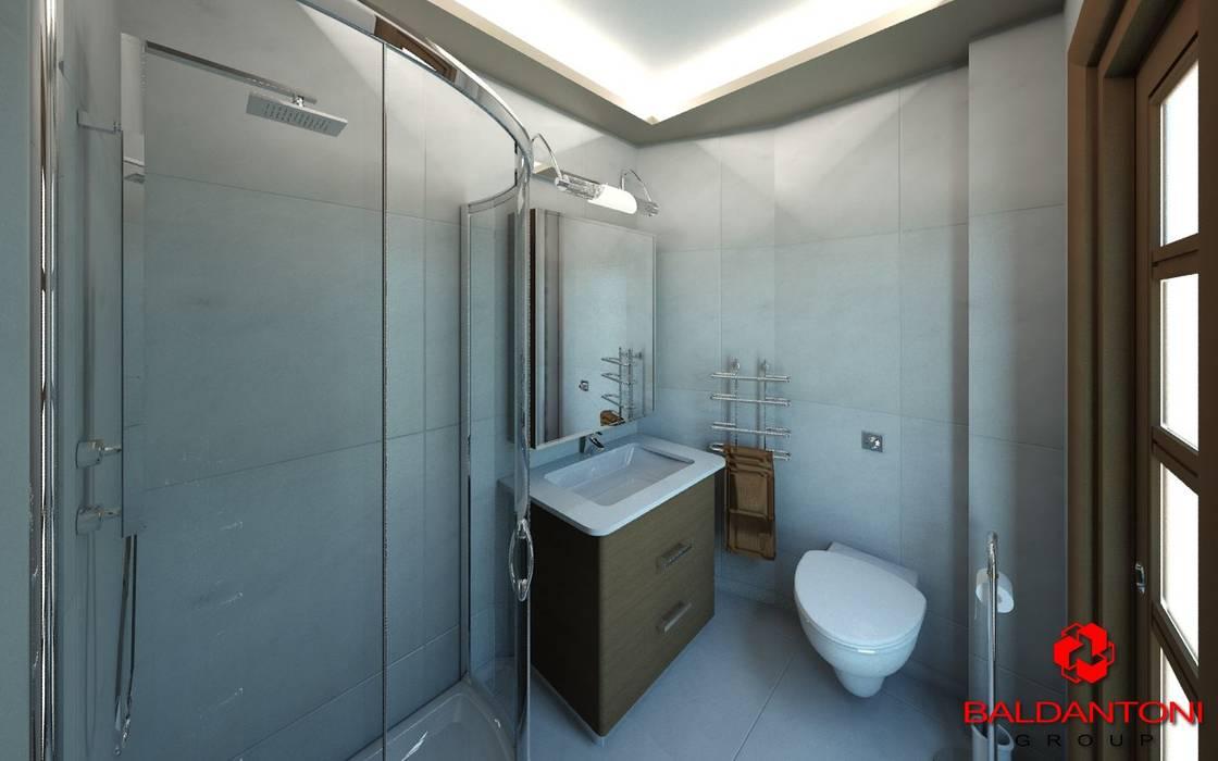 Bagno con doccia: Bagno in stile in stile Moderno di Baldantoni Group