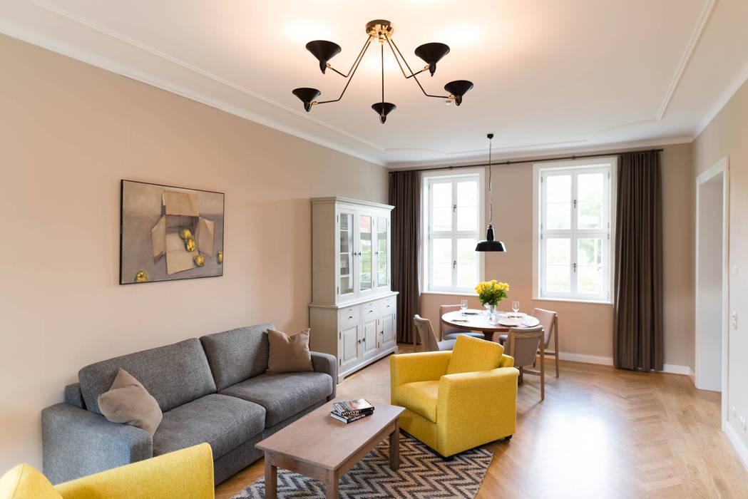 Wohnbereich Rustikale Wohnzimmer von raumdeuter GbR Rustikal