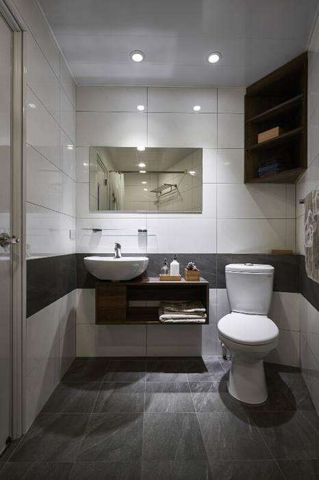 好用的浴下櫃:  浴室 by 第宅空間設計