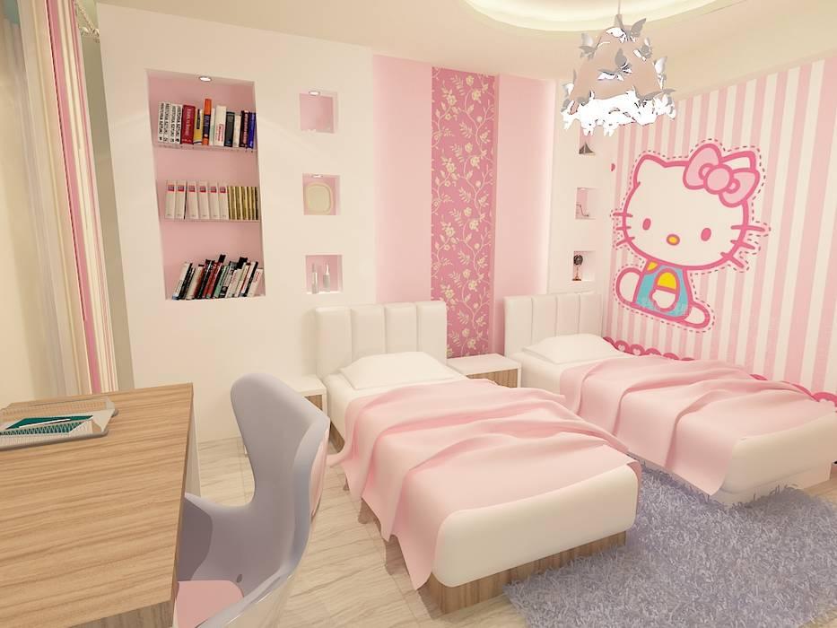 girl bedroom render 1 :  غرفة نوم بنات تنفيذ Quattro designs