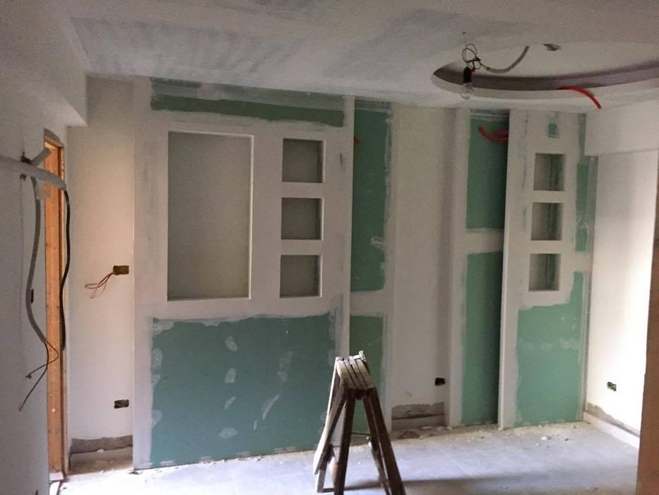لقطة اثناء التنفيذ في غرفة البنات :  غرفة نوم بنات تنفيذ Quattro designs
