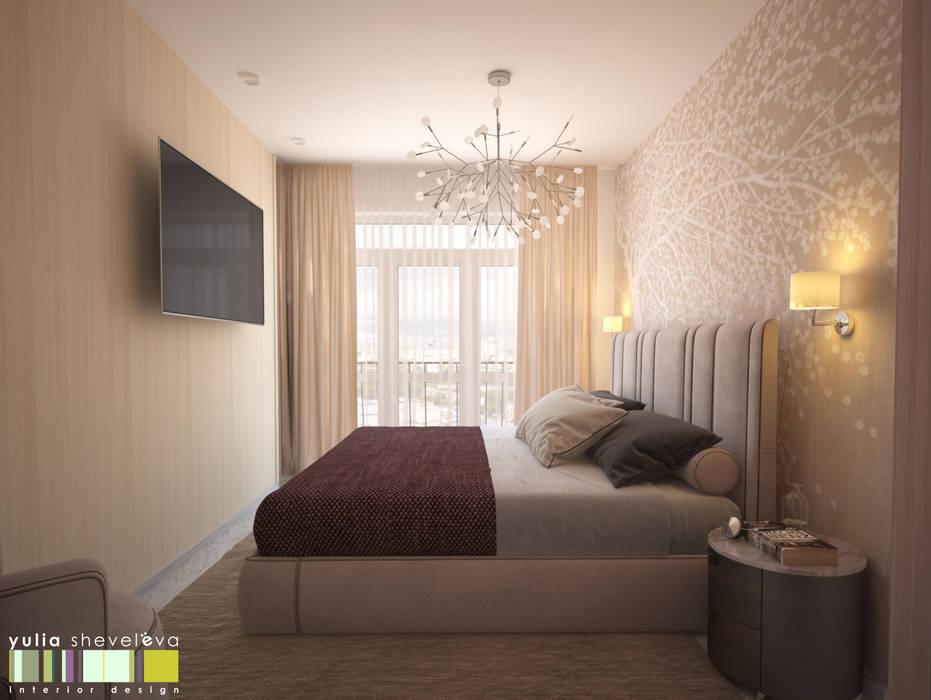 ЖИЗНЬ В РИТМЕ: Спальни в . Автор – Мастерская интерьера Юлии Шевелевой