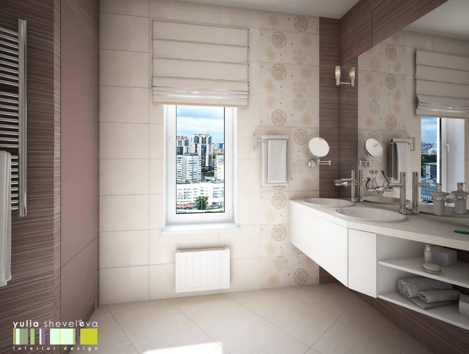 ЖИЗНЬ В РИТМЕ: Ванные комнаты в . Автор – Мастерская интерьера Юлии Шевелевой,