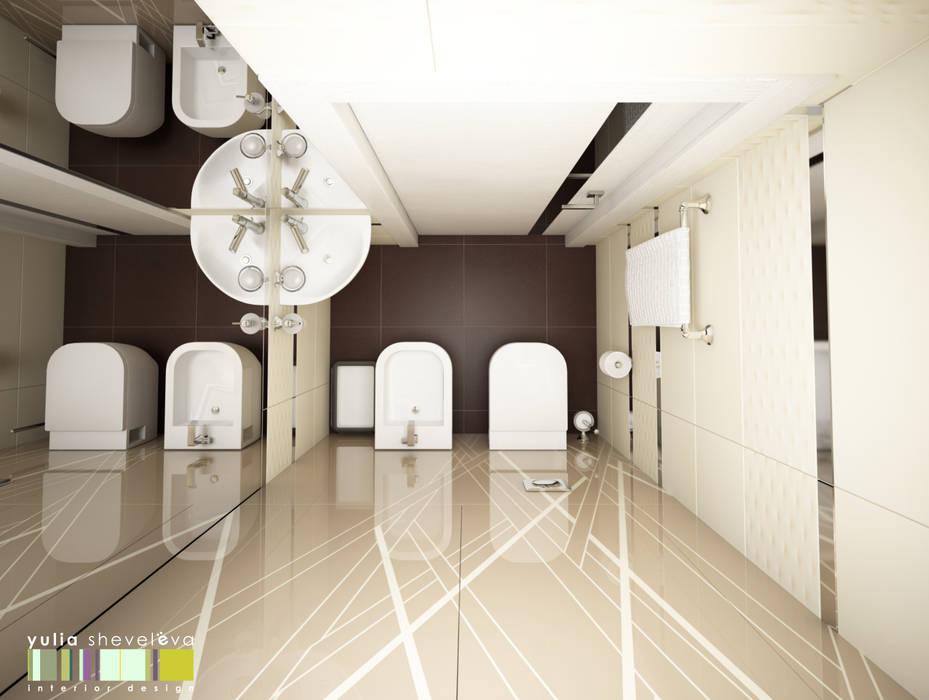 ЖИЗНЬ В РИТМЕ: Ванные комнаты в . Автор – Мастерская интерьера Юлии Шевелевой