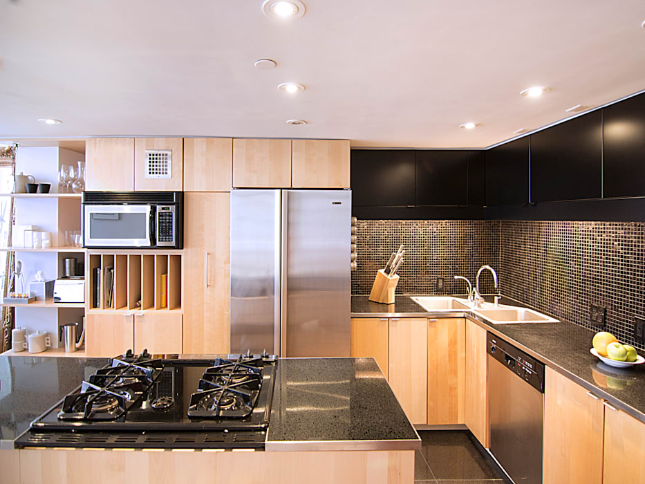 Kimberly Peck Architect Dapur built in