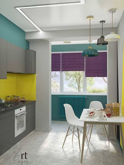 кухня яркая маленькая: Кухни в . Автор – Арт-Идея,