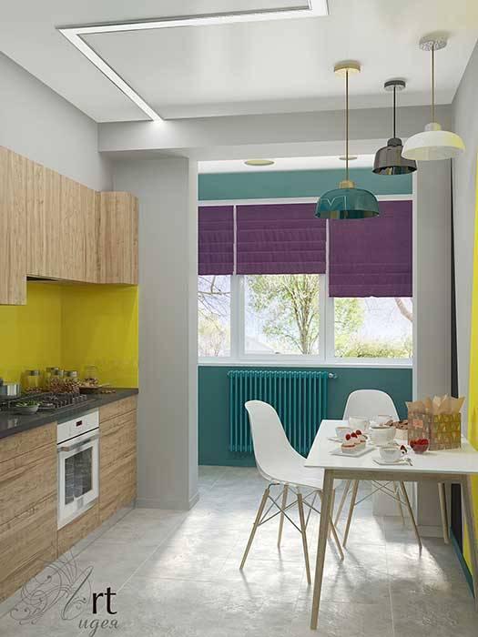 небольшая кухня в однокомнатной маленькой квартире: Кухни в . Автор – Арт-Идея