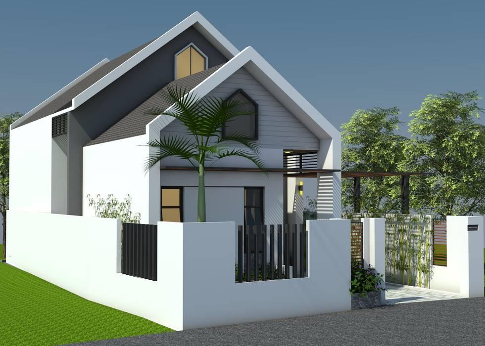 Nhà vườn cấp 4 hiện đại bởi Công ty TNHH CND Associates - Kiến trúc CND Hiện đại