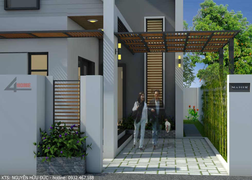 Nhà vườn cấp 4 hiện đại:  Nhà đồng quê by Công ty TNHH CND Associates - Kiến trúc CND, Hiện đại