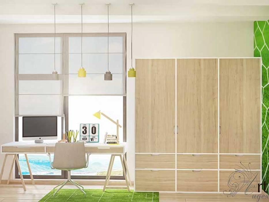 Детская комната для мальчика футболиста: Детские комнаты в . Автор – Арт-Идея