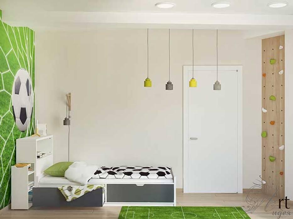 Детская комната для мальчика в стиле футбольном: Детские спальни в . Автор – Арт-Идея